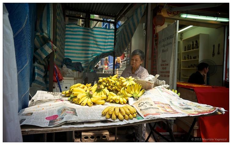 Banane vicino al tempio